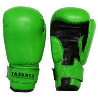 KIDS YOUTH 4OZ 6OZ 8OZ VINYL BOXING GLOVES - GREEN
