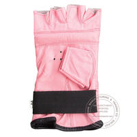 FINGER LESS LEATHER PUNCH BAG GLOVES - PINK
