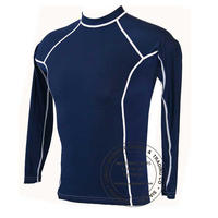 Navy Full Sleeves Rash Guards