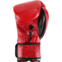 Premium Pro Leather Boxing Gloves - Red