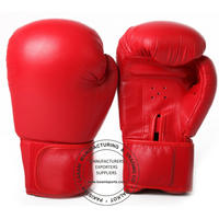 KIDS YOUTH BOXING GLOVES - TRAINING - SPARRING  - 109 RED
