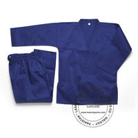Blue Karate Uniforms 7.5 oz Poly Cotton
