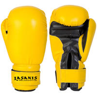 KIDS YOUTH 4OZ 6OZ 8OZ VINYL BOXING GLOVES - YELLOW
