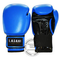 LEATHER BOXING GLOVES - 101 BLUE