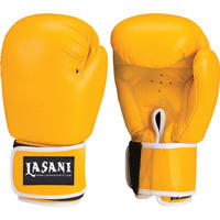 LEATHER BOXING GLOVES - TRAINING - SPARRING - 102 YELLOW