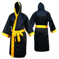 Boxing Gown Hooded Martial Art Satin Robe Gown Full