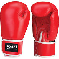 LEATHER BOXING GLOVES - TRAINING - SPARRING - 102 RED