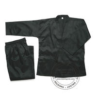 Black Karate Uniforms 7.5 oz Poly Cotton