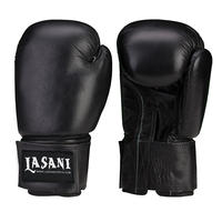 BASIC LEATHER BOXING GLOVES -103 BLACK