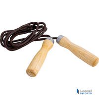 Jump Ropes Wooden + Leather Cord