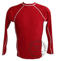 Red Full Sleeves Rash Guards