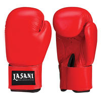 BASIC LEATHER BOXING GLOVES -103 RED