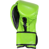 PREMIUM LEATHER LACE UP BOXING GLOVES - GREEN