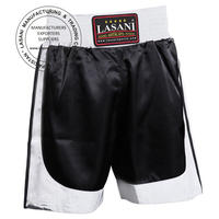 Boxing Trunks Black White