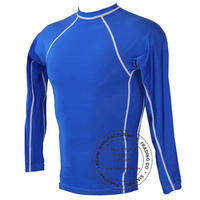 Blue Full Sleeves Rash Guards