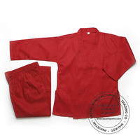 Red Karate Uniforms 7.5 oz Poly Cotton