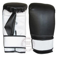 BOXING PUNCH BAG - BALL MITT - BLACK