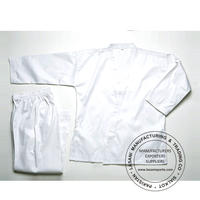 White Karate Uniforms 7.5 oz Poly Cotton