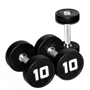 Round Rubber Dumbbells