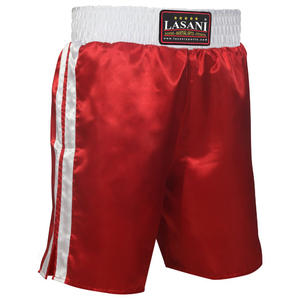 White Red Boxing Trunks