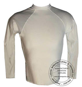 White Full Sleeves Rash Guards